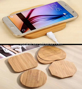 Best quality Custom logo bamboo charging fast qi bamboo wireless charger wooden