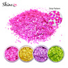 Wholesale Hexagon Stripe Nail Glitter Holographic Pink Hexagon Stripe Laser Nail Art Glitter