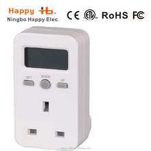 power monitoring 3%tolerance CE,RoHS, UK plug in led digital Energy cost meter
