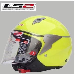 Подлинные LS2 OF559 мотоциклетный шлем половина шлем мужской и женский модели флуоресцентный желтый sml XL XXL