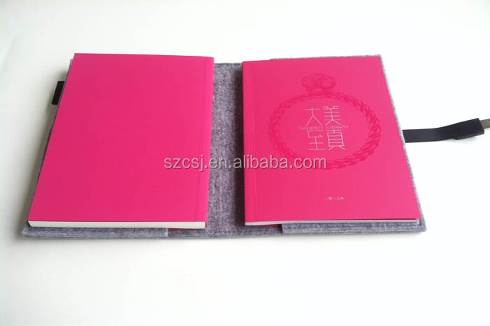 Grey Wolvilt Cover Journal/Reizen Dagboek/Reis Planner/Notebook met USB Slot