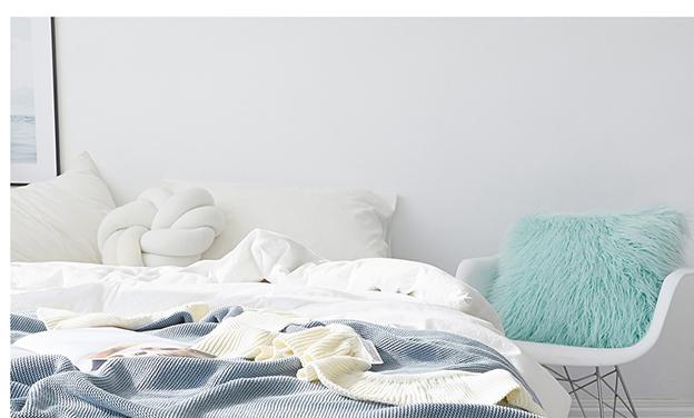 Professionele goedkope ruche katoenen gebreide gooien deken