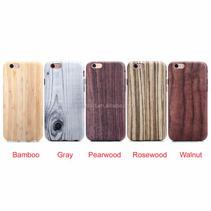 IMD sublimation wood printing full cover tpu phone case for iphone 6 6s