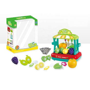 Competitive Price children pretend toy slice fruit set kids toys play kitchen for funny play