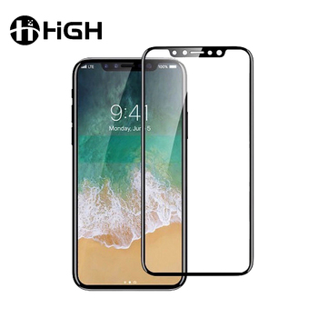 Anti-shock full coverage for iphone 8 plus tempered glass film 3d full cover 9h tempered glass screen protector for iphone 8