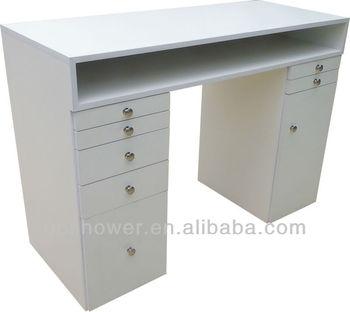 White Nail Bar Table beauty salon furniture  nail table for sale. White Nail Bar Table beauty Salon Furniture  nail Table For Sale