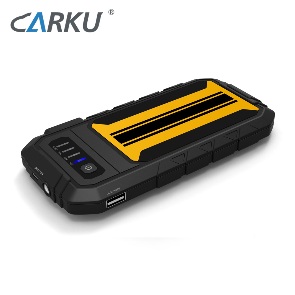 CARKU 2018 6000mAh Quick Charge high quality car jump starter for small gasoline car 12V