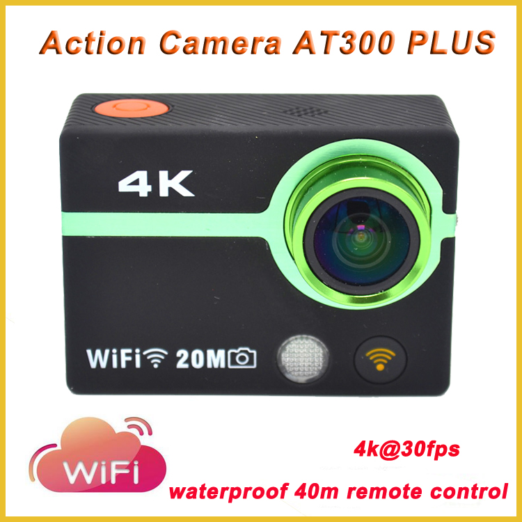 Original AT300 plus Ultra HD 4 K waterproof 40m remote control xiaomi yi action camera 1080P 60FPS