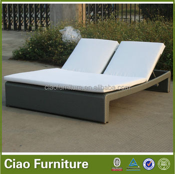 Double Outdoor Sun Bed Two Person Sunbed Outdoor