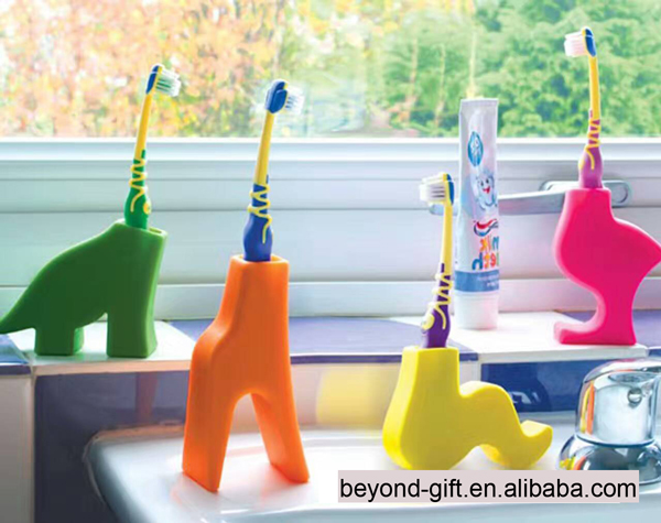 Hot-selling animal shape silicone toothbrush holder for kids