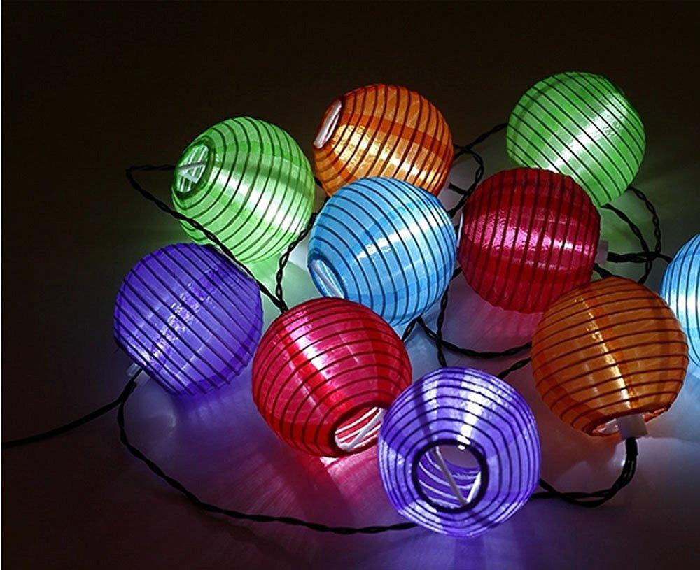 Ebest Seller Solar String Lights, Lantern Lights String 10 Led Fairy Waterproof Lights for Outdoor Garden Christmas Party Decoration (4M/10LED/Lattern Shape)