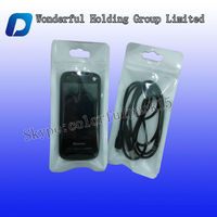USB cable packing with zip lock/plastic clear USB cable packaging