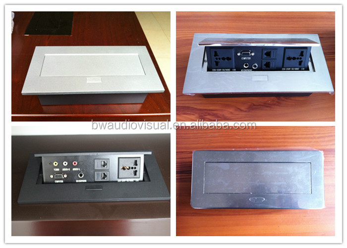 Pop Up Tabletop Electrical Wire Management Box For Office Buy Wire - Conference table power hub