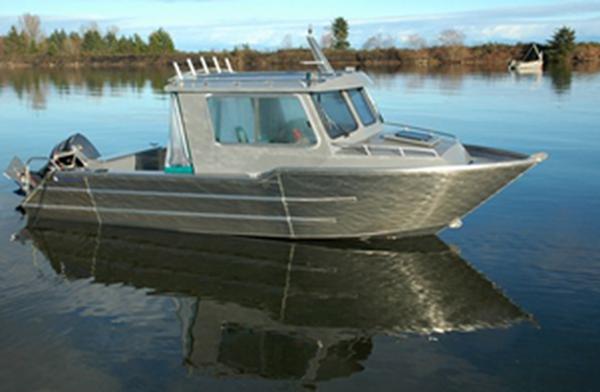 bateau de peche aluminium