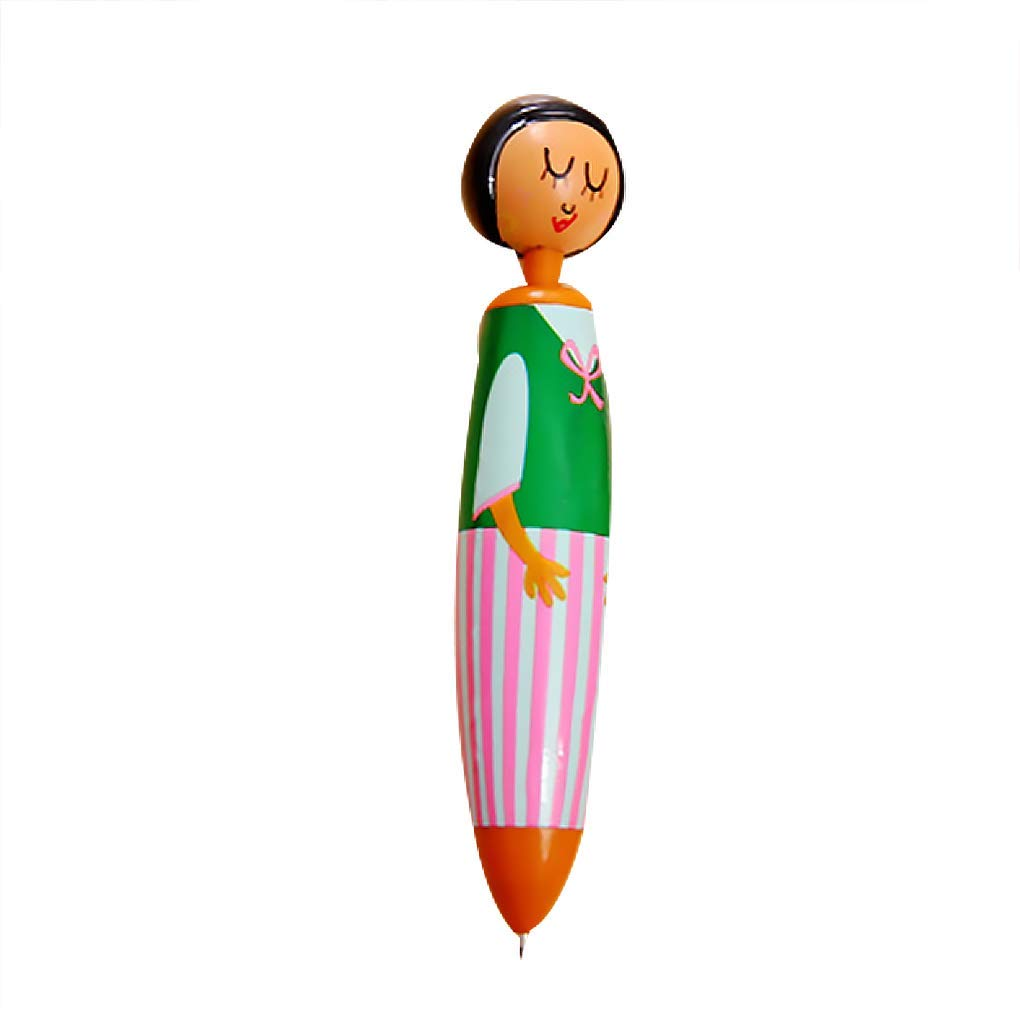 Bobury Cartoon Puppet Blue Ink Plastic 12.5cm Length Ballpoint Pen Colorful Child Stationery Color Random