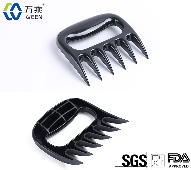 Meat Shredding Claws Handler Forks Silicone BBQ Glove with BBQ Meat Claw