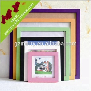 Made in China colorful wooden photo frame / square picture frame