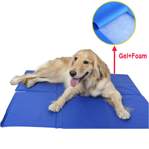 Beds accessories gel pet cooling mat for dog ice cool pad reusable