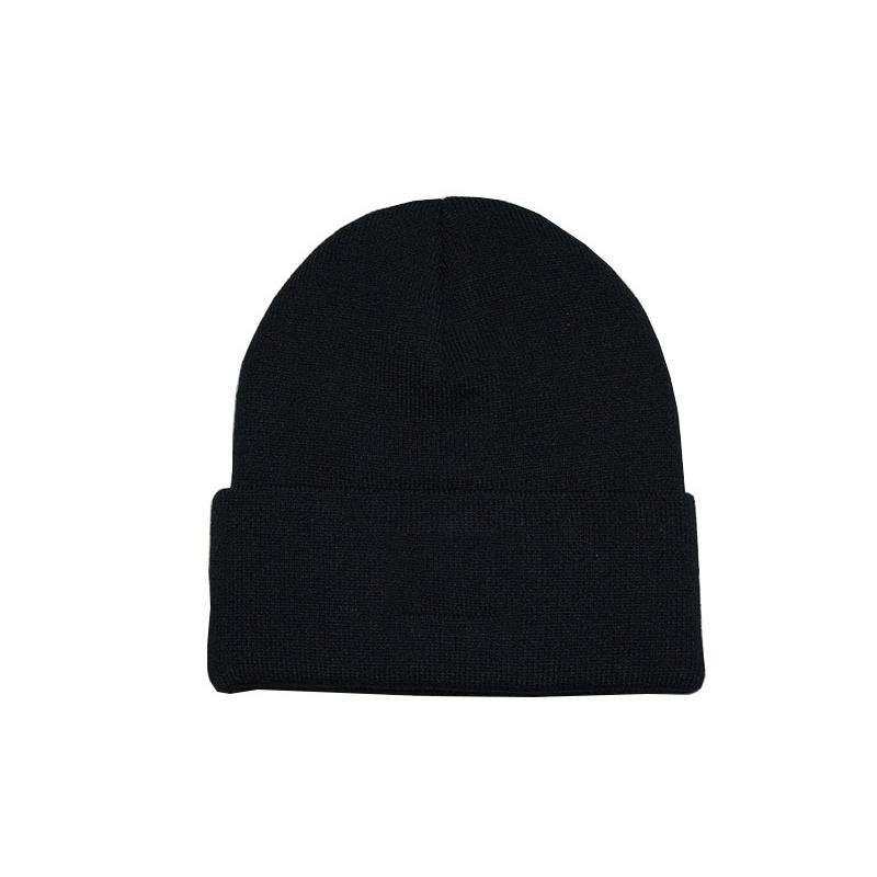 ホット販売プロモーションカスタマイズ 100% アクリル冬ビーニーニット無地カラーニット帽子