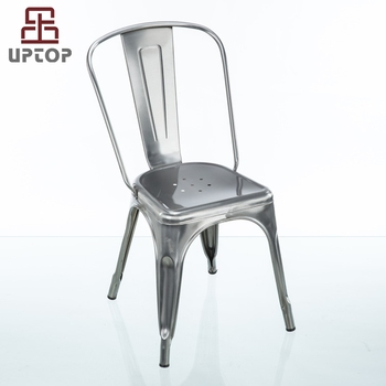 Exceptionnel (SP MC035) Industrial Cafe Used French Silver Tabouret Bistro Chairs