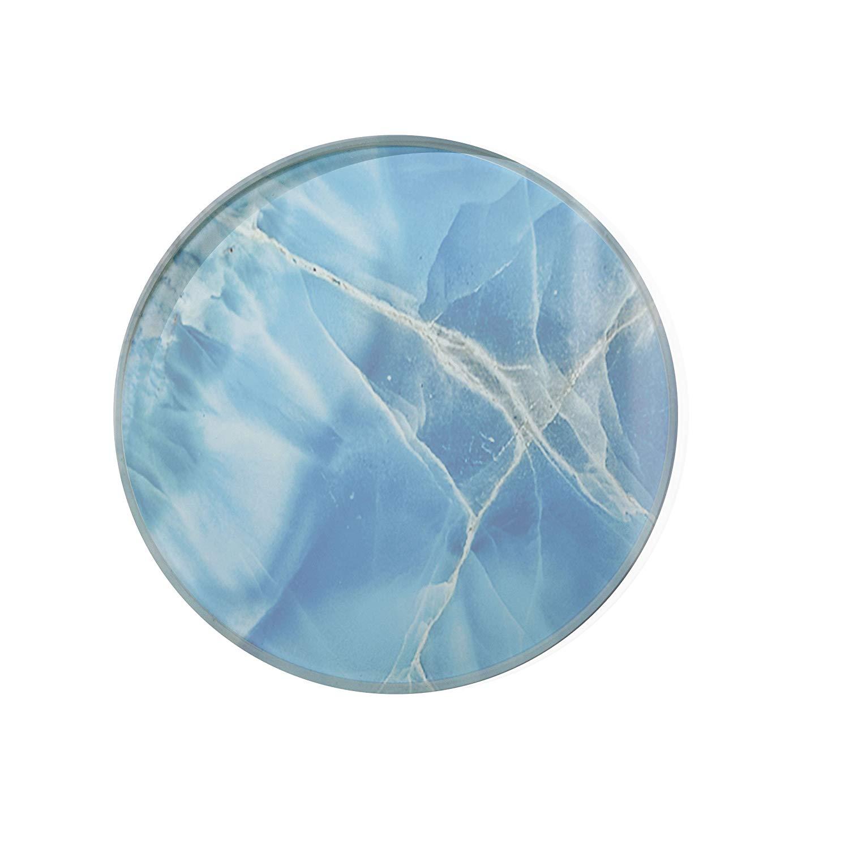 Blue Ice Glass Coaster For Drinks Housewarming Gift Coaster Drink Mat Tea Rug Coaster Tempered Glass Wine Mat Hardboard Coaster ZZ8166