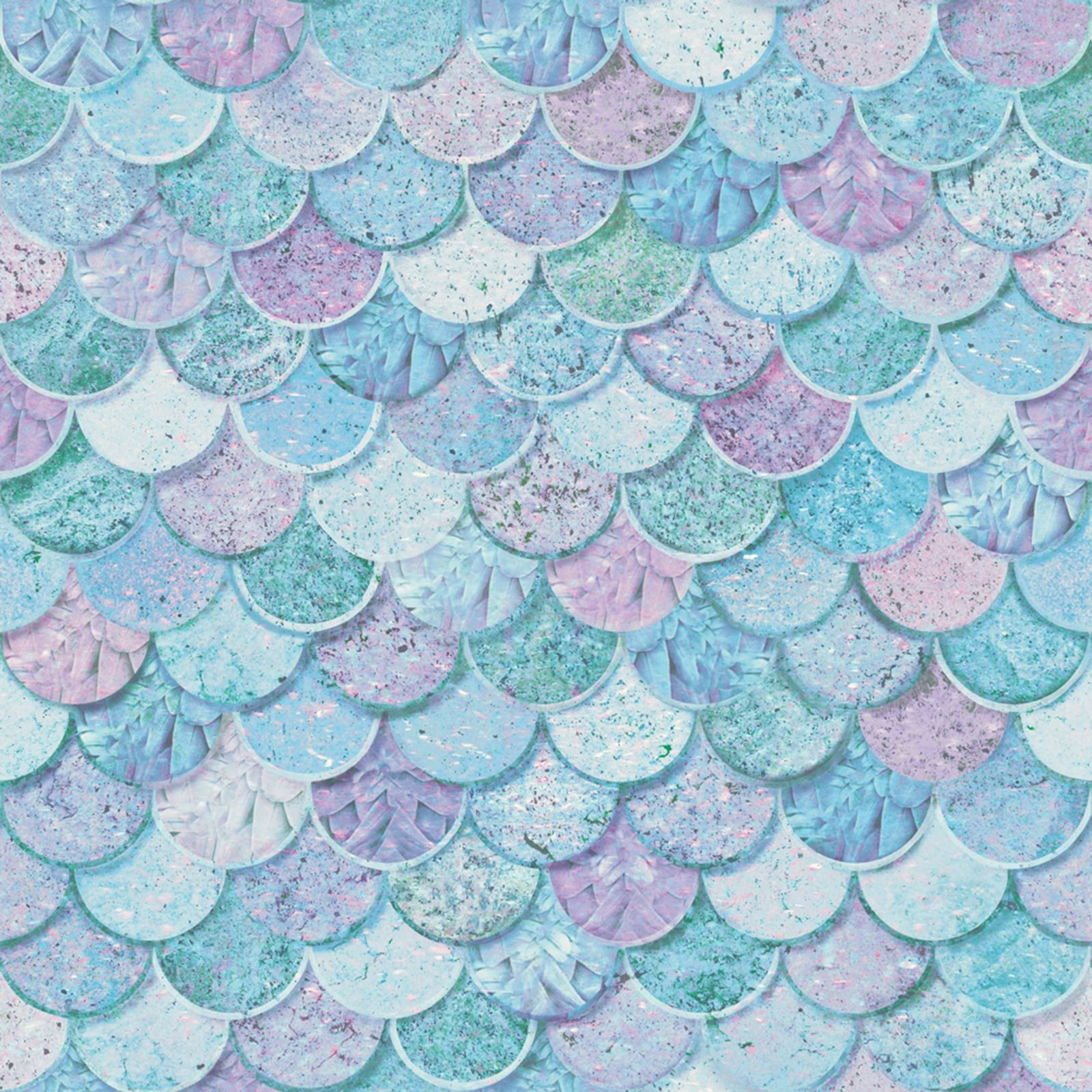 Mermazing Mermaid Scales Glitter Wallpaper Arthouse 698305 Ice Blue