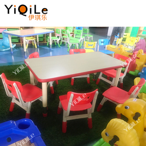 Kids wood tables and chairs for kindergarten classroom furniture use