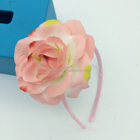 Artificial fabric wedding flower hair band silk flower headband