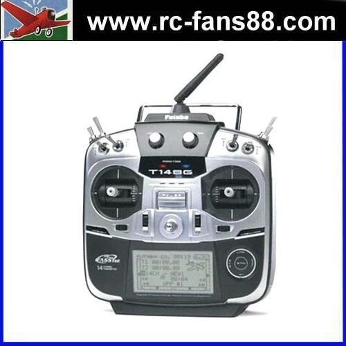 FUTABA T14SG 14-Channel 2.4GHz FASSTest Telemetry RadioControl System w/7008SB Receiver Left RC Transmitter for Drone