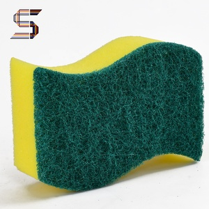 Cellulose Cleaning Sponge Heavy Duty Nylon Scouring Pad