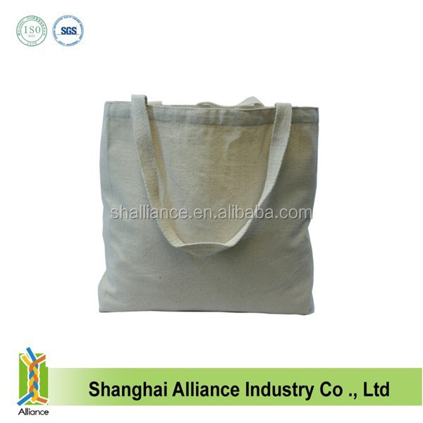 Bleached fabric plain white canvas tote bag ALD959