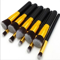 China wholesale cosmetics beauty accessories tools cosmetics makeup brushes set,private label makeup brush