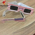 High Quality Promotional Disposable CE 3D Paper Solar Eclipse Sunglasses Glasses With Custom Logo