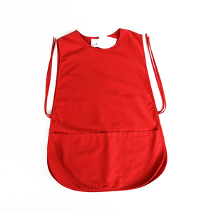smock work apron,red model blouse for hotel receptionist uniforms