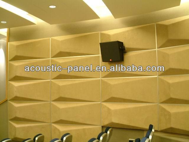 3d Acoustic Diffuser Wall Panel Leather Wall Panel For Studio - Buy ...