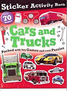 Cars & Trucks Sticker Activity Book (Over 70 Stickers)