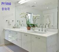 Modular European style wicker drawer bathroom cabinet