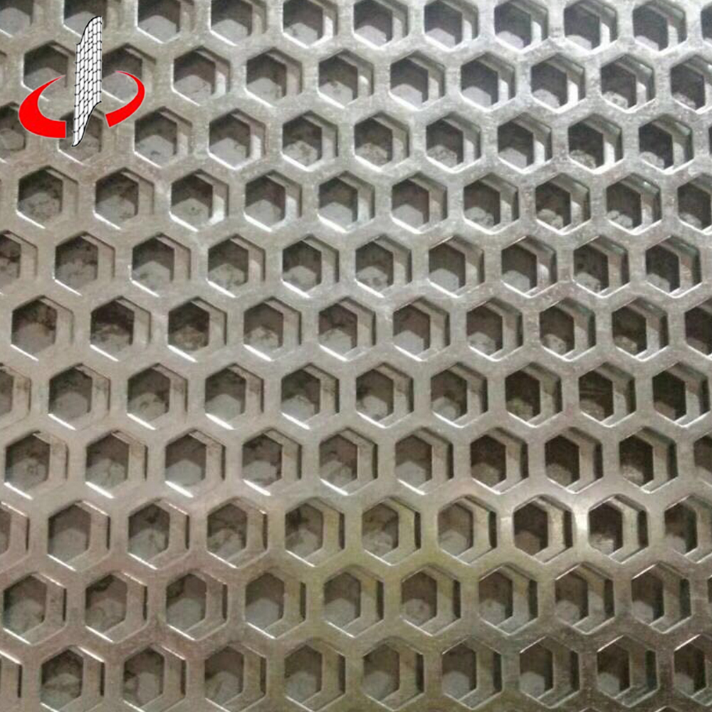 Decorative Aluminium Hexagonal Perforated Metal Panel Sheet - Buy