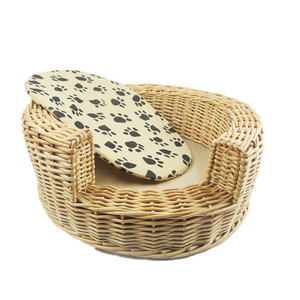 2018 Hot Sale Light Wood Colour Wicker Dgo Bed Dog Cage Pet Beds & Accessories