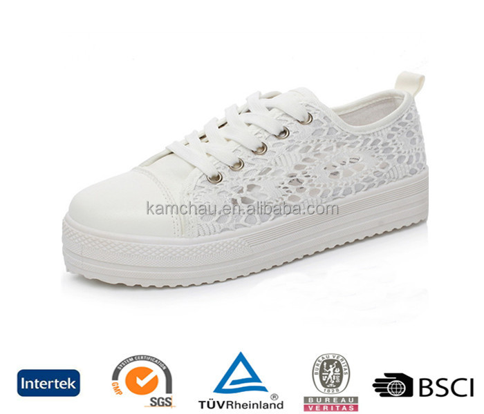 china export directly wholesale fancy design casual ladies sizes white lace women size platform sneakers