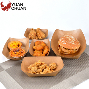 Chinese fast food take away serving trays