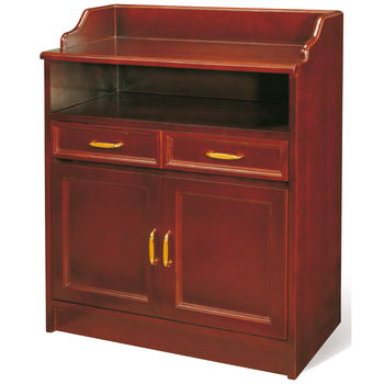 Strong Practicality Annatto Color Tea Cabinet