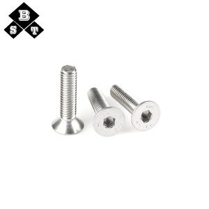 304 Stainless Steel Countersunk Head Flat Hex Head Bolts