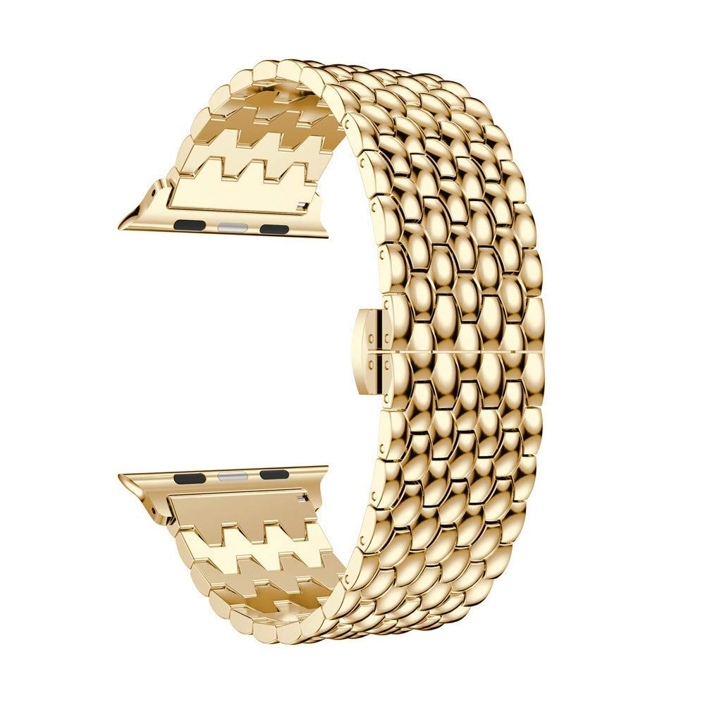Loop Luxury Alloy Link Bracelet Watch Band Strap for Apple Watch Series 4 44MM