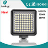 Portable outdoor photography mini DSLR camera light 64 leds supplement lamp power by AA batteries