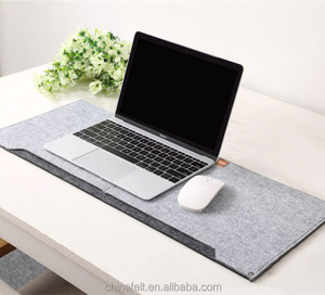 4mm Grey Foldable Felt Keyboard Mouse Pad Large Desk Mat
