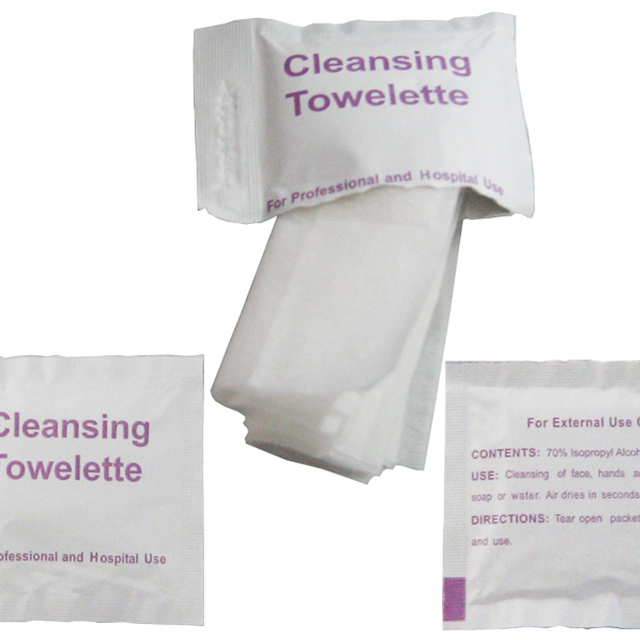 70% Alcohol Sterile cleansing towelette