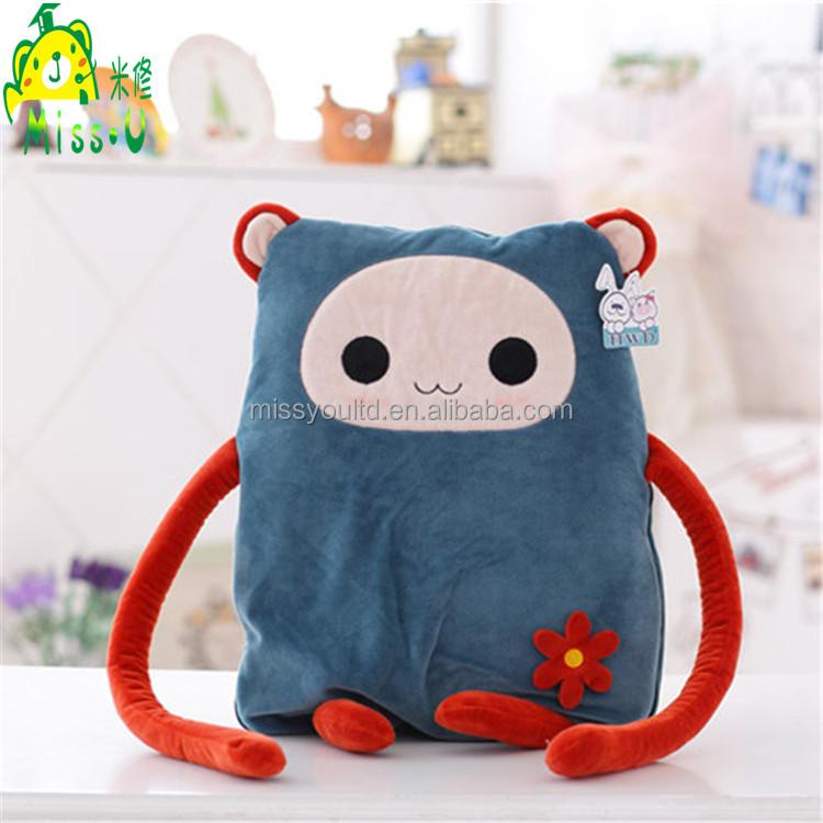 Soft Lovely Cartoon Air conditioning Plush Blanket Manufacturer For Children