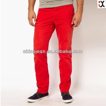 2017 New Model Jeans Pants Colored Mens Jeans Red Jxc30002 - Buy ...