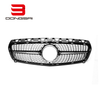 Auto front grille ABS diamond black grille for Mercedes W176 2013-2015